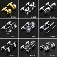 Wholesale 108 Styles Mens Cufflinks For Mens Jewelry Cuff Links Party Business Wedding Novely Gift Fashion Crystal Cheap Cufflinks