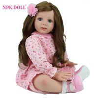 bebe collection - 24 inch Reborn Baby Doll Lifelike Girls Vinyl Baby Toys Cute Soft Reborn Bebe Toddler Collection Dolls By NPK DOLL