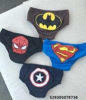 Wholesale Children swimming trunks captain America bats spiderman superman swimming trunks male baby triangle swimming trunks boy swimming trunks