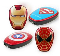 america banking - High Quality Cartoon external Battery emergency Iron Man mAh USB Power Bank Charger Power Bank Marvel Heroes Captain America Super