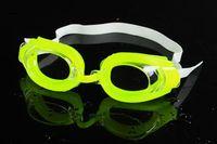 Wholesale Summer Children kids swimming goggles Cartoon Crab silicone Swimming swim glasses Anti fog children swimwear beach goods