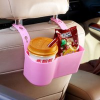 Wholesale Car storage box holder creative water holder and waste bin hang at back of seat storage baskets multi function space organizer