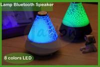 audio desks - New T12 Bluetooth Speaker LED Colorful adjusting Lights Lamp Portable Speaker for Desk Indoor Pool Bathroom Holiday Proposal DHL free