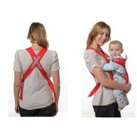 Wholesale 10PCS Convenient Baby carriers Slings Backpacks Decompression strap Blue Red opp bag packing Freeshipping