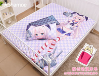 Wholesale Anime Cartoon Collection Milk Silk Mattress Cover Fitted Sheet Fitted cover bedspread counterpane No