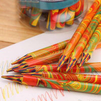 Wholesale Durable Pieces Without Wood Colored Pencils Crayon More Drawing Area in Color Graffiti Drawing Art Supplies