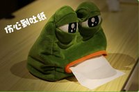 Wholesale 2016 New Arrival Creative Cutie Frog Tissue Box Tissue Holder for Home use or decoration size cmX21cm