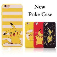 Sac opp pour téléphone cellulaire Prix-Poke Picachu Cartoon Cell Phone Case Couverture souple TPU Silicone Back Cover pour iPhone 6 6s, plus 6s 5S avec sac opp