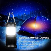 Wholesale Portable Outdoor LED Camping Lantern Water Resistant Ultra Bright Collapsible Flashlight Lamp for Hiking Camping or Emergency Occasion