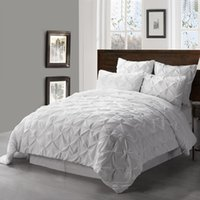 Wholesale Beautiful Soft Quilt set with Small Pleat Like Small Peans By Hand On The Top