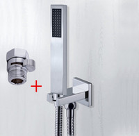 Wholesale chrome copper hand in wall shower set with brass shower holder shower shut off valve and m shower hose TH018