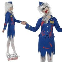 airline games - MOONIGHT Scary Airline Stewardess Halloween Masquerade Woman s Cosplay Costumes Airline Hostess