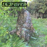 Wholesale D Tactical Leaf Camouflage Ghillie Suit Sniper Hunting Disguise Hide Yowie Paintball Training Suit Military Combat Clothes
