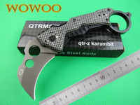 aluminum rope - QTRM5TR QTR QTR Z Hawkbill Claw Karambit DA46 Survival Pocket Knife Aluminum Alloy Carbon Fiber Handle Rope Cutter Rescue Tools knives