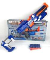 arma games - 74cm Big Toy Gun Infrared Sighting Plastic Electric Nerf Gun Arma Toys CS Game Soft Bullet Air Guns Revolver Christmas Gift