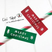 Wholesale 600pcs color Christmas Tree Sticker Adhesive Paper Wedding Seal Label For Bakery Gift Bag Box Decoration