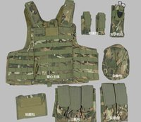 Wholesale Military Tactical Vest Outdoor Hunting CS Army Combat Nylon High Quality Safety Vest with pouches Colors
