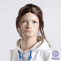 average retail - W3150 kid wigs Full Wig Synthetic girls hair and retail Children natural wigs ponytail gold color