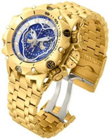 batteries hybrid - Good Selling New arriving Luxury Watch Mens Reserve Venom Hybrid Master Calendar Gold Plated Swiss Watch New