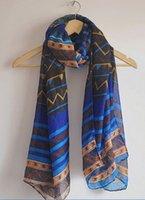 air conditioning fluid - New Fashion Women Dress Scarf Brand Ultra long big scarf female fluid zig zag scarf air conditioning cape dual silk scarf