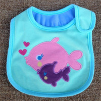 Wholesale 2016 Cute Baby INS Cotton Animal Pattern Bibs Newborn Kids Burp Cloths Girls Boys Cartoon Bibs