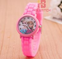 anna watch - New Cartoon Children Watch Silicone Frozen Princess Elsa Anna Watches Fashion Girl Kids Student Cute Sports Analog Wrist Watches