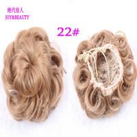 Wholesale Hair Bun Clip In Hair Pieces Chignon Synthetic Hairpieces Bun Extension Donut Roller Hairpieces Postiche Chignon Bun