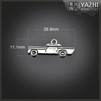automobile metal parts - Restore Ancient Ways Years Generation Automobile Model Ornaments Parts Vintage Car Metal Silver Vehicle Charm Chirstmas Charms