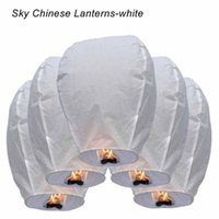 Wholesale 10PCS Mix Colors Chinese Paper Balloons Sky Flying Wishing Lantern Lamp Candle For Birthday Wish Globos Party Wedding Decoration