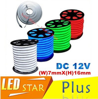 Wholesale 12V Flexible led neon flex rope bar light SMD outdoor Indoor white RGB soft tube strip lights