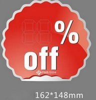 big discount stores - 50 four model big size discount POP Explosive card promotional sign price label tag store atmosphere point