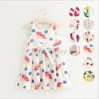 baby white lips - Baby Pineapple Lemon Dresses Summer Lip Leaf Dress Flower Fruit Floral Dress Print Princess Dress Girl Sundress Bow Belt Beach Dress B402