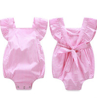 Wholesale ins Girls Baby Onesies Summer Cotton Newborn Baby Rompers Plaid Newborn Romper Clothing Jumpers Toddler Jumpsuits Infant Bodysuit Clothes
