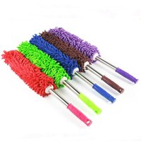 Wholesale Retractable stainless steel dust chenille car wax brush feather dusters car wax tow cars with dust