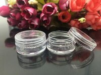 Wholesale 5g Cream Bottle Factory Price New Empty Clear Travelling Plastic Cosmetic Containers Bottle Make Up Cream Sample Pot Jar