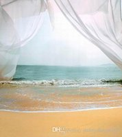 beach house curtains - Curtain Opening Onto Beach Scenic Backgrounds for Photo Studio Props X7ft Vinyl Wedding Children Photography Backdrops