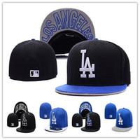 Wholesale Los Angeles Dodgers Fitted Caps LA Letter embroidery baseball cap flat brim hat team size baseball caps