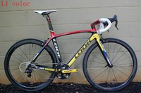 Wholesale 2016 TOP NEW T1000 k light full carbon complete road bike bicycle frameset frame wheels Ultegra groupset size cm free ship