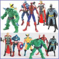 Wholesale DHL Se Marvel The Avengers Super Hero Hulk Captain Batman Kid Toy Action Figure