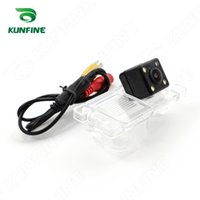 american car park - CCD Track Car Rear View Camera For Mitsubishi Pajero American version Parking Assistance Camera with Track Line Night Vision KF V1131L
