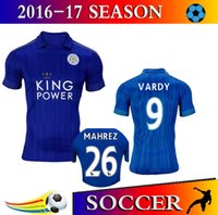 Wholesale Thailand Quality Season Leicester City Home Away Soccer Uniform Football Jerseys DRINKWATER ULLOA DYER MAHREZ VARDY
