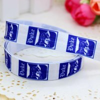 sports ribbon - 5 quot mm Duke Blue Devils Sports Team Fold Over Elastic FOE Printed Ribbon DIY Hair Baby Craft Decorations A2 F
