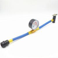 ac refrigerant hose - R134a Air Conditioning AC Refrigerant Recharge Hose With Gauge ACME Bottle Opener Thread Low Pressure Regulator PSI
