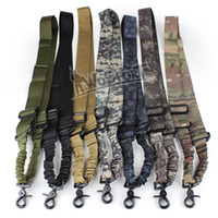 Wholesale Tactical One Point Single Airsoft Tactical Gun Weapon Adjustable Nylon Bungee Sling System Khaki Strap colors