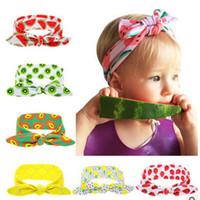 baby headbands diy - 2016 summer children s DIY elastic rabbit ears headband watermelon newborn baby knot headwrap newborn turban hair accessories