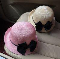 alice gardens - Bow hat female Xia Tianliang sheet after Alice basin cap beach hat Ms visor hat sun hat