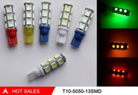 auto interiors - 100Pcs T10 SMD W5W Car Auto Led Light Bulbs License Plate Light Factory outlets Interior Lamp V Seven Colors