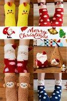 Wholesale Chensiting Kids Chritmas gift box cotton Christmas gift sock snowman deer winter autumn sock pairs