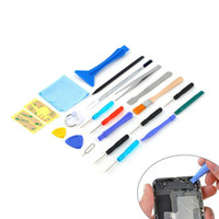 Wholesale 22pcs Universal Open Pry mobile phone Repair Screwdrivers Sucker hand Tools set Kit For iPhone Samsung iPad Cell Phone Tablet