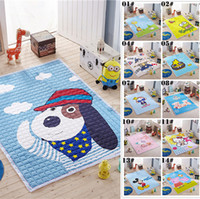 baby area - 150 cm Cotton Kids Bedroom Cartoon Carpet Living Area Rugs Baby Cushion Crawling Pad Mickey Zootopia Printing Picnic Carpets Mats